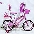 Детский Испанский Велосипед  JASMINE 14 дюймов c родительской ручкой, фото 10