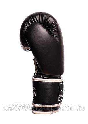 Боксерські рукавиці PowerPlay 3010 Чорно-Білі  , фото 2