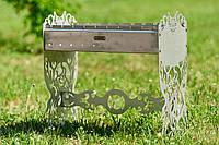 """Мангал раскладной, эксклюзивный """"Дикий бык"""", нержавеющая сталь 1,5 мм., фото 1"""