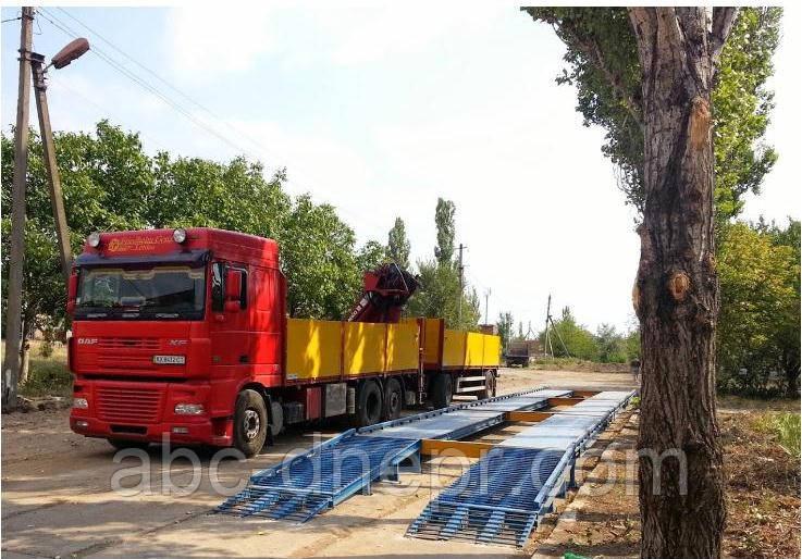 Ваги автомобільні 80 тонн 18 метрів без будівельних робіт швидкомонтовані