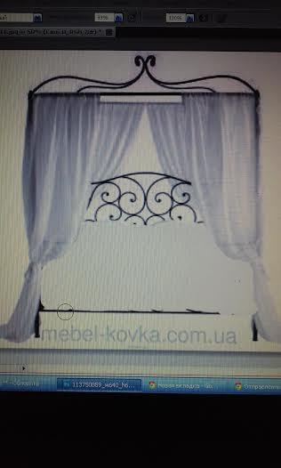 Кованая кровать с балдахином для Цветочного дома Тесс в Одессе