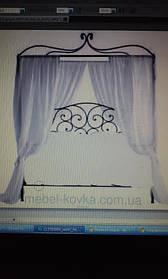 Для начала была выбрана кровать у нас на сайте и благодаря  программе Фотошоп она была изменена .Задача была кровать с балдахином без подножья для удобства фотосьемки