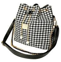 Женская сумка черно-белая + Подарок (989366375)