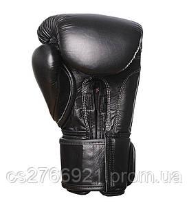 Боксерські рукавиці PowerPlay 3014 Чорні [натуральна шкіра]