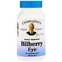 Чорниця для очей, Christopher's s Original Formulas, 450 мг, 100 рослинних капсул