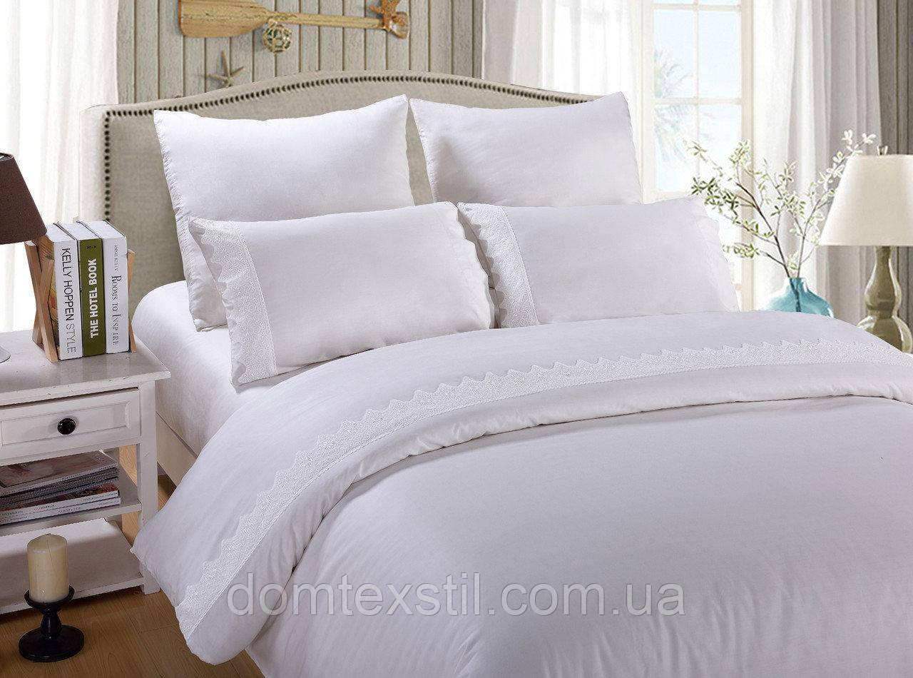 Комплект постельного белья Bella Villa Сатин с кружевом