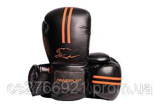 Боксерські рукавиці PowerPlay 3016 Чорно-Оранжеві