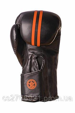 Боксерські рукавиці PowerPlay 3016 Чорно-Оранжеві , фото 2