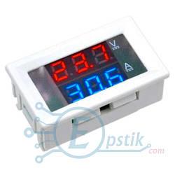 Цифровой амперметр вольтметр постоянного тока, 100В, 10А