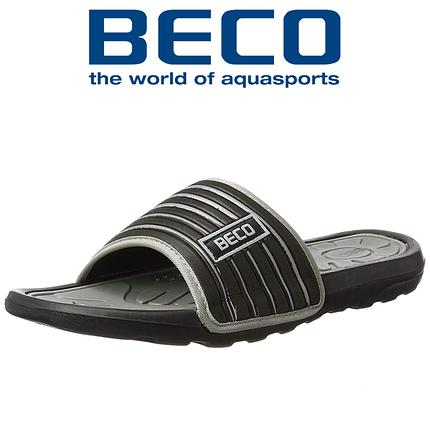 Тапочки чоловічі BECO 9082 011 чорний/сірий, фото 2