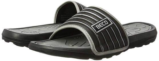 Тапочки чоловічі BECO 9082 011 чорний/сірий, фото 3