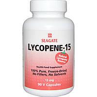 Seagate, Лікопін-15, 15 мг, 90 рослинних капсул