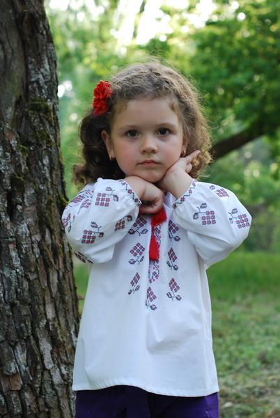Вышиванка детская для девочки Д052-112, фото 1