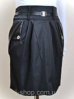 Детская школьная юбка карандаш для девочки от 5 до 12 лет, черного цвета