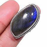 Ультра-синий лабрадор натуральный кольцо лабрадор в серебре. Кольцо с лабрадором 17 размер Индия!, фото 8