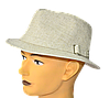 Шляпа мужская Хантор лен канва с опущенными полями