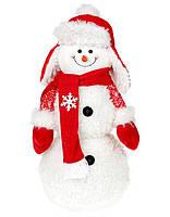 """Мягкая новогодняя фигура- игрушка """"Снеговик"""" 48 см"""