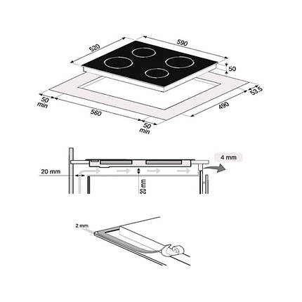 Индукционная варочная панель ELEGANT IH 604 TA, фото 2