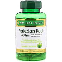 Корень валерианы с фирменной смесью трав, Nature's Bounty, 450 мг, 100 капсул