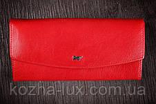 Кошелек красный, Braun Buffel без металла, натуральная кожа, фото 2