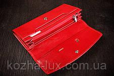 Гаманець жіночий шкіряний червоний, Braun Buffel без металу, натуральна шкіра, фото 3