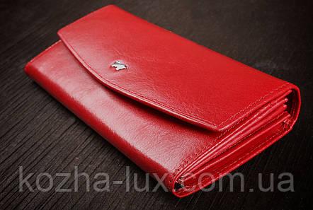 Гаманець жіночий шкіряний червоний, Braun Buffel без металу, натуральна шкіра, фото 2