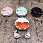 Навушники бездротові блютуз-гарнітура з зарядним кейсом 500 мА * ч. Wi-pods K10 навушники Bluetooth 5.0 Рожеві, фото 7
