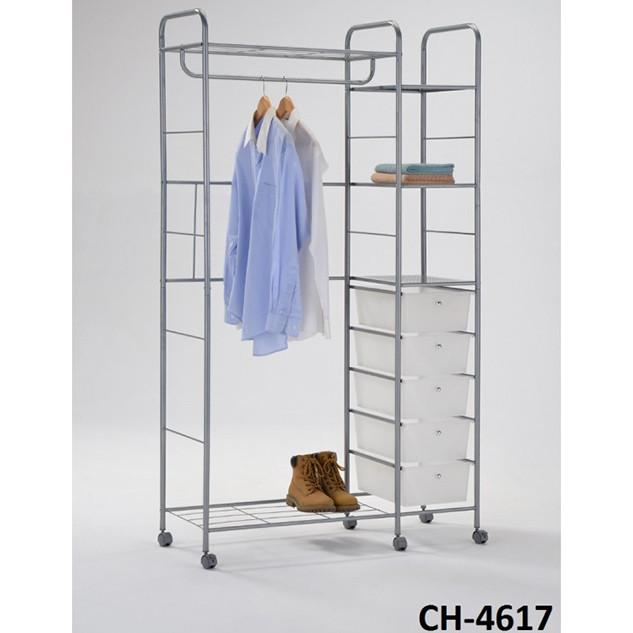 Стойка для одежды универсальная с ящиками Onder Metal CH-4617 серый