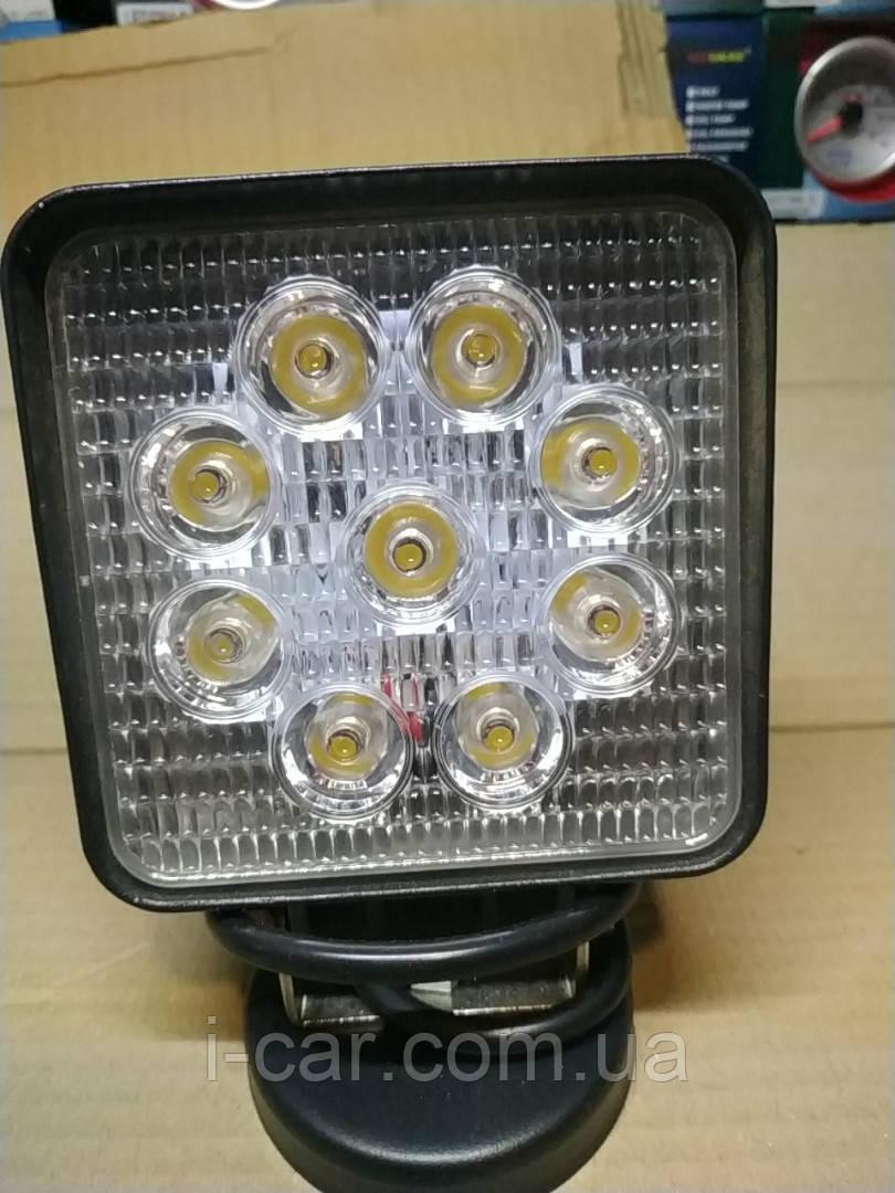 Світлодіодна LED фара світло жовтий 27W 06-27