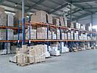 Стелаж для палетних вантажів H4500хL1800х1100 мм (пол. + 3 рівня по 2000 кг на рівень), стелаж для палет, фото 5