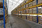 Стелаж для палетних вантажів H4500хL1800х1100 мм (пол. + 3 рівня по 2000 кг на рівень), стелаж для палет, фото 10