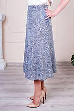 """Женская летняя юбка """"Годе-Тая"""" размеры 52-62, фото 3"""