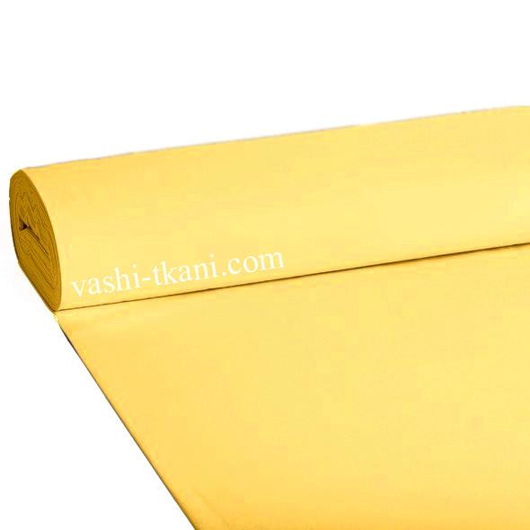 Ранфорс гладкокрашенный.  Ярко - желтый 100% хлопок.