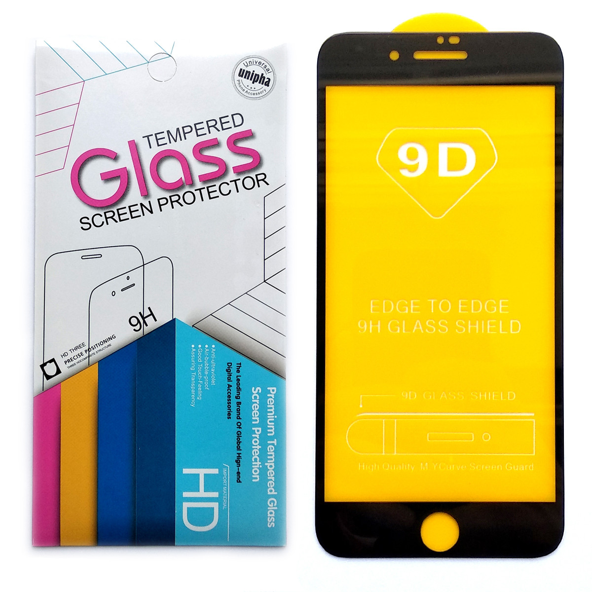 Защитное стекло 9D для Apple iPhone 7 Plus / 8 Plus (Black)