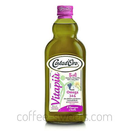 Мікс 5-ти олій першого холодного віджиму Costa D'oro Vitapiu Omega 3 1L, фото 2