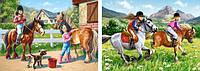 """Пазлы """"Прогулки на лошадках"""", 2хPuzzle"""