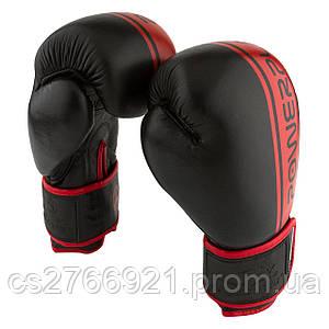 Боксерські рукавиці PowerPlay 3022 Чорно-Червоні [натуральна шкіра]
