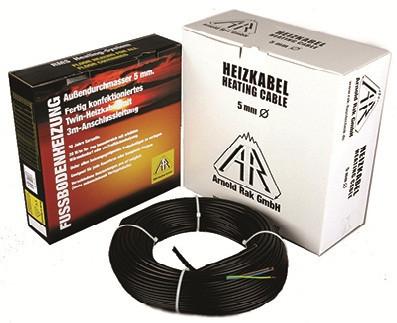 Нагревательный кабель двужильный Arnold Rak Standart 6102-20 EC