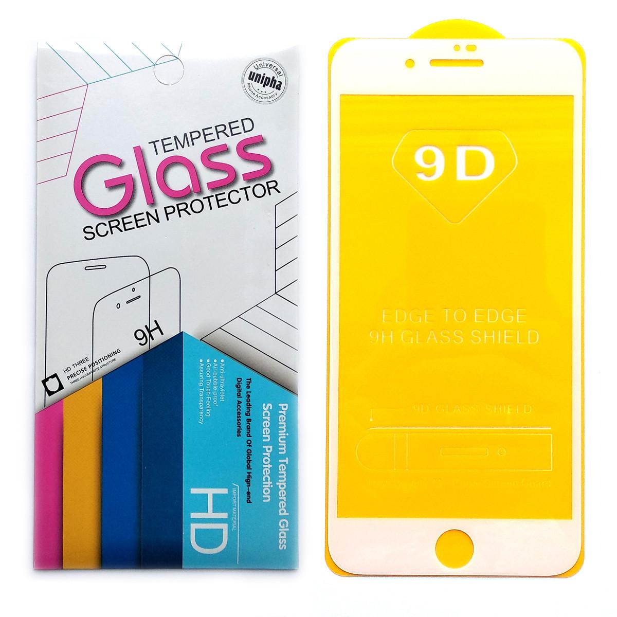 Защитное стекло 9D для Apple iPhone 7 Plus / 8 Plus (White)