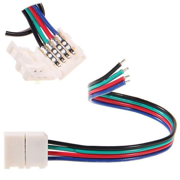 Dilux - З'єднувальний кабель з коннектор для світлодіодної стрічки RGB SMD 5050 RGB 4pin (1 jack)