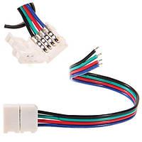 Dilux - З'єднувальний кабель з коннектор для світлодіодної стрічки RGB SMD 5050 RGB 4pin (1 jack), фото 1