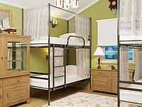 Двухъярусная металлическая кровать ДУО ШТОРКИ (DUO)