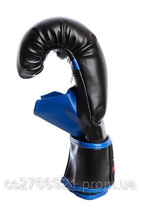 Снарядні рукавички PowerPlay 3025 Чорно-Сині, фото 2