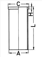 Поршень с гильзой MAN (D0826)