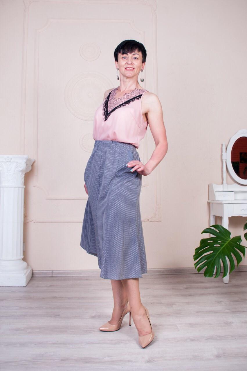 """Женская летняя юбка """"Годе-Тая"""" размеры 52-62"""