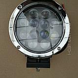 Фара діодна кругла 60 w близький, фото 2
