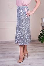 """Женская летняя юбка """"Годе-Тая"""" размеры 64-70, фото 3"""