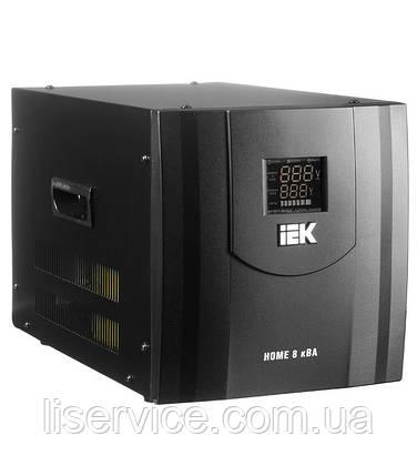 Стабілізатор напруги Home 8 кВА (СНР1-0-8) рел. перен. IEK, фото 2