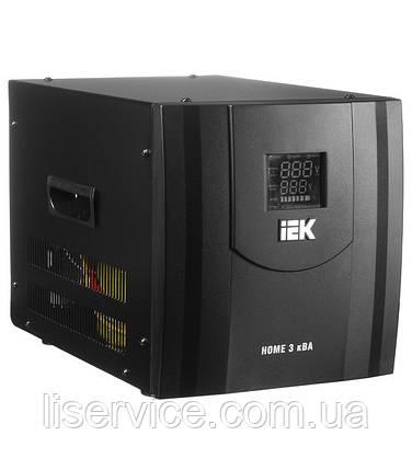 Стабилизатор напряжения Home  3 кВА (СНР1-0-3) рел. перен. IEK, фото 2