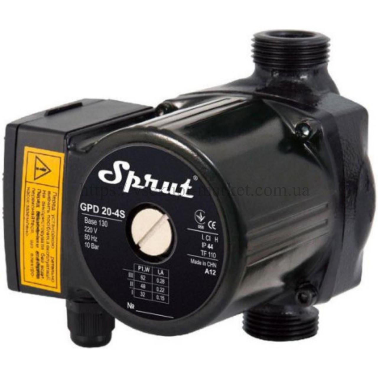 Циркуляционный насос Sprut GPD 20-4S-130, присоединительный комплект